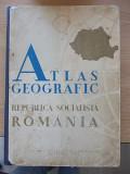 ATLAS GEOGRAFIC-REPUBLICA SOCIALISTA ROMANIA-CARTONAT CU HARTI-R5F