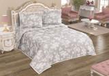 Patura de pat Valentini Bianco din acril, model Nelly Gri