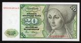 GERMANIA RFG █ bancnota █ 20 Deutsche Mark █ 1980 █ P-32d █ UNC █ necirculata