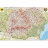 Romania si Republica Moldova. Harta fizica, administrativa si a substantelor minerale utile 700x500mm (GHRF70-L)