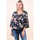 Cumpara ieftin Bluza Jacqueline De Yong Gilly 7/8 Black Flower