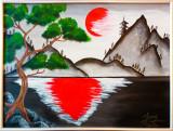 "Tablou pictura chinezeasca ""CHI"", Natura, Acrilic, Realism"