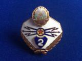 Insignă militară - Specialist de clasă - clasa a II-a - Transmisiuni - RPR (2)