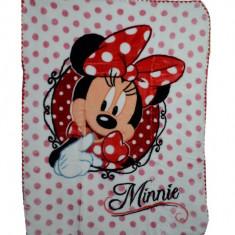 Paturica groasa Minnie Mouse 80 x 110 cm Disney WTP03A, Alb
