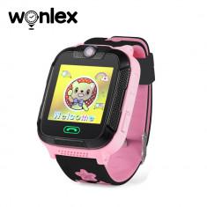 Ceas Smartwatch Pentru Copii Wonlex GW2000 cu Functie Telefon, Localizare GPS, Camera, 3G, Pedometru, SOS, Android - Roz