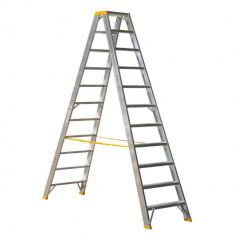 ALVE Scara dubla FORTE cu trepte late pe ambele parti - 2x11 trepte 89411000