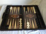 Joc Table (joc de Table) LUX – în servietă piele. SIGILAT! | arhiva Okazii.ro