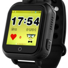 Smartwatch iUni Kid730, 1.54inch, GPS, 3G, Bratara silicon (Negru)