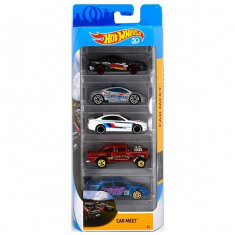 Set masinute Hot Wheels, Car Meet, FKT59 (5 modele)