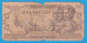(13) BANCNOTA ROMANIA - 100 LEI 1947 (25 IUNIE 1947)