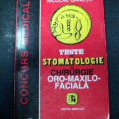 TESTE DE STOMATOLOGIE SI CHIRURGIE ORO-MAXILO-FACIALA (CONCURS MEDICAL) BUCURESTI 1998-PROF.DR.NICOLAE GANUTA
