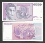 IUGOSLAVIA 500 DINARI 1992 UNC [1] P-113 a , necirculata