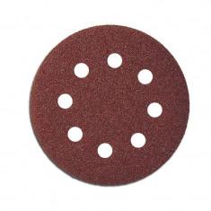 Disc abraziv hartie cu orificii 125mm - gr.240, 5/set