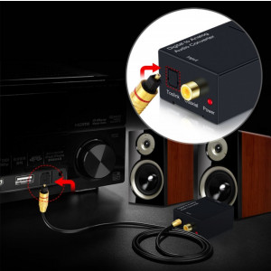 CONVERTOR AUDIO DIGITAL optic toslink tv in to la ANALOG rca jack 3.5 cable pret