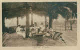 WW1 MILITARi AFRICAN WAR ITALIAN OFFICERS RESTING  AFTER A TENIS MATCH
