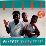 B.V.S.M.P. - On And On / Megamix (1989, BCM), disc vinil Maxi Single