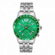 Ceas Barbatesc, Keep in Touch CS1138, bratara metalica, cadran verde