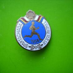 HOPCT ROMANIA  INSIGNA VECHE SPARTACHIADA TINERETULUI 1956  [ 5 ]