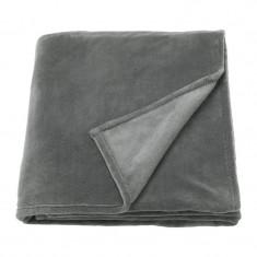 Patura poliester single, 150 x 250 cm, gri