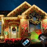 Cumpara ieftin Proiector laser exterior IP44, cu telecomanda, joc de lumini verzi si rosii