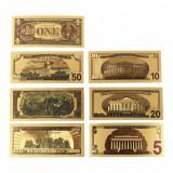Set Bancnote Aurite - Dollar (1, 2, 5, 10, 20, 50, 100) dolar, dollari, dolari