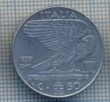 AX 1361MONEDA-ITALIA-50 CENTESIMI-ANUL 1939 XVII NONMAGNETIC-STAREA CARE SE VEDE, Europa