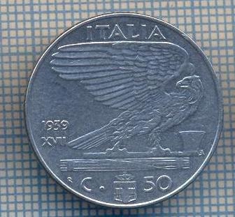 AX 1361MONEDA-ITALIA-50 CENTESIMI-ANUL 1939 XVII NONMAGNETIC-STAREA CARE SE VEDE