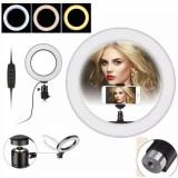 Cumpara ieftin Lampa Profesionala LED Circulara Cosmetica Make-UP Studio Foto Selfie