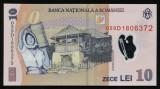 X539 BANCNOTA 10 LEI 2005 aUNC fara indoituri doar urme de rulare prin bancomat