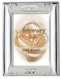 Rama Foto de Argint 13X18(21x26) cm pentru Nunta de Argint 25 Ani Casatorie Lemn Maro Cod Produs 2611