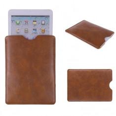Husa din piele, tip buzunar, pentru tableta de 8.0 inch, maro