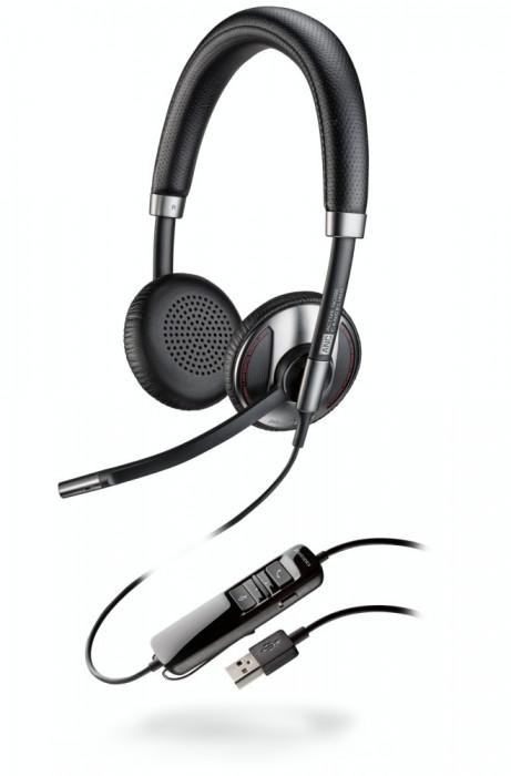 Casca Call Center Plantronics BLACKWIRE C725-M , USB, Microsoft Certified, Binaural, Noise Canceling