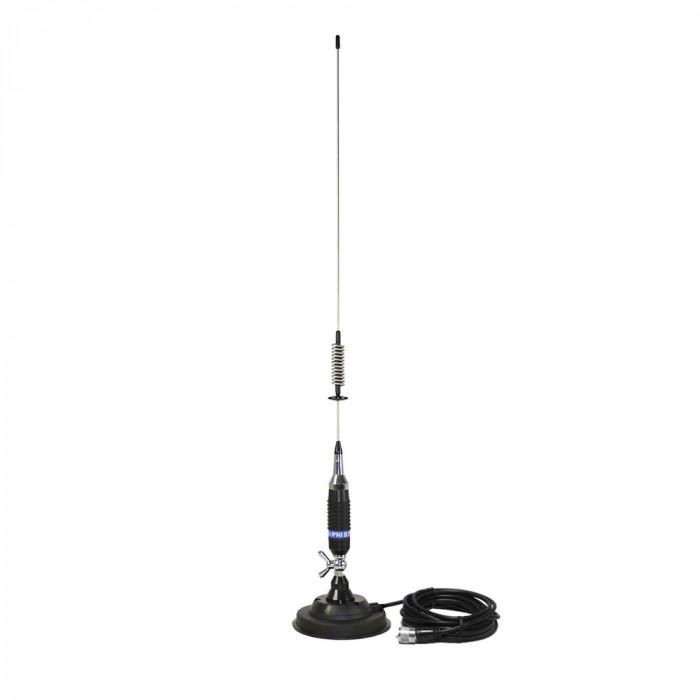 Resigilat : Antena CB PNI S75 cu fluture, 26-28MHz, lungime spic 54 cm, magnet 125