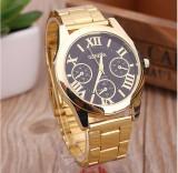 Cumpara ieftin NOU Ceas de dama auriu elegant cu cadran analog si curea metalica GENEVA, Fashion, Quartz, Inox