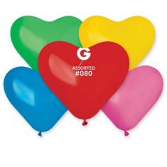Baloane inimioare colorate 25cm set 100 buc