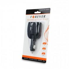 Forever Adaptor (priza) Auto 2 in 1 Negru Blister