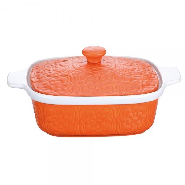Cratiță cu capac din ceramică, 1.5 litri, Peterhof