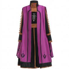 Costum complet 3 piese Anna Frozen 2/regatul de gheata- rochie+colanti+pelerina