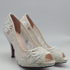 Pantofi Toc Brodati Margareta de 36 la 41