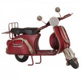 Macheta scuter Retro din metal rosu 17 cm x 8 cm x 10 h, Clayre & Eef