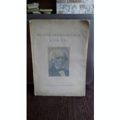 REVISTA GERMANISTILOR ROMANI NR.2/1937