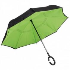 Umbrela Flipped Hands Free Green