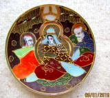 Japonia, portelan cu foita de aur.Mitologie.D 13,5/99gr.