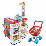 Set joaca supermarket cu casa de marcat, carucior si accesorii, 48x42x81cm