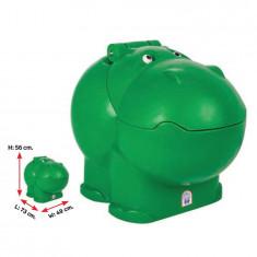 Cutie depozitare jucarii Hippo Toy Box Green
