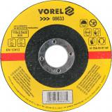 Disc abraziv pentru debitat metale 115x2.5x22 mm VOREL