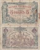 1919 (30 XII), 5 francs (P-75c) - Belgia