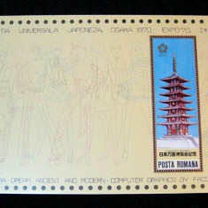 Expo Osaka, colita neuzata  MNH, L.P. 721, 1970