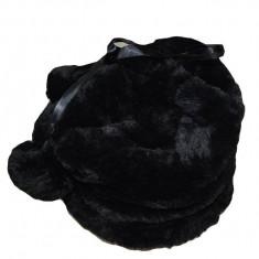 Caciula neagra de iarna, blanita fina, calduroasa, multifunctionala