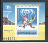 Romania.1978 C.M. de fotbal-colita  HR.338, Nestampilat